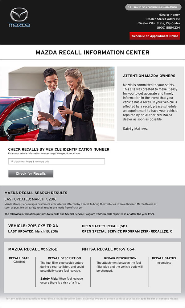 dealership recall administration