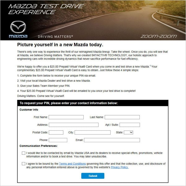 test drive incentives